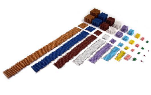 materiale completo delle perle colorate