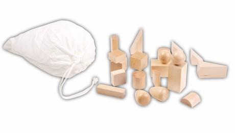 mystery bag (sacco dei misteri) delle forme geometriche