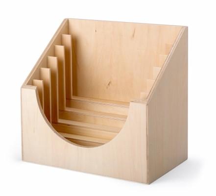 stand in legno per 6 telai delle allacciature Montessori