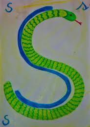 Alfabeto illustrato steineriano S