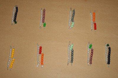 Perle colorate Montessori 1