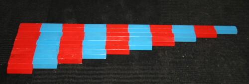 Aste numeriche Montessori – Esercizi con i cartelli dei numeri e le aste