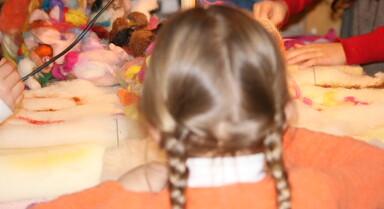 lana cardata laboratori per bambini 5