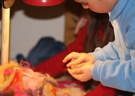 lana cardata laboratori per bambini 6