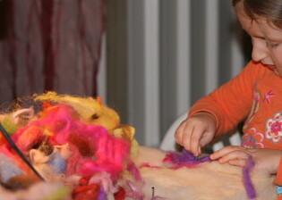 lana cardata laboratori per bambini 7