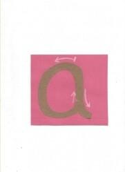 lettere smerigliate Montessori corsivo 12