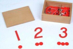 Numeri e gettoni Montessori – come costruire il gioco in proprio