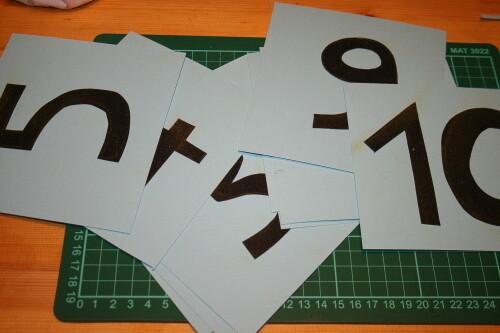 numeri smerigliati Montessori 2