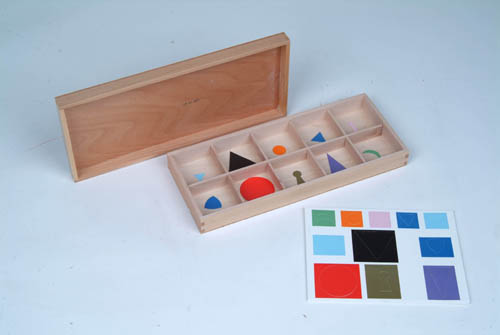 Montessori psycho - grammar, or philosophy of grammar, is a great help for orientation in the different linguistic areas. There are nine symbols for the various parts of speech, and due to their form they establish a link between language and mathematics.