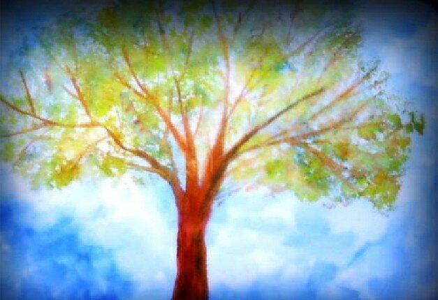 Acquarello steineriano l 39 albero in primavera la pappadolce - Immagine dell albero a colori ...