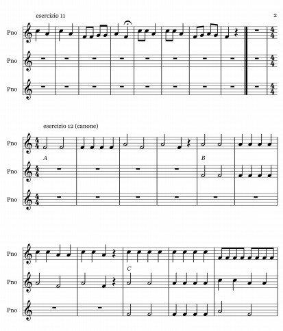 esercizi per flauto dolce 11 e 12