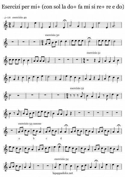 esercizi per flauto dolce per mi alto