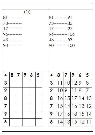 Schede autocorrettive ADDIZIONI - seconda classe 14