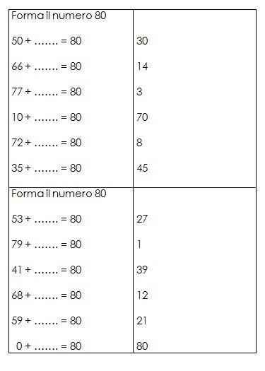 Schede autocorrettive ADDIZIONI - seconda classe 25