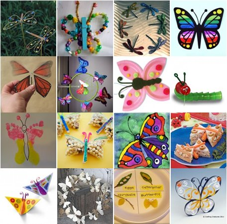 Lavoretti per la primavera: farfalle, bruchi e libellule – 50 e più progetti