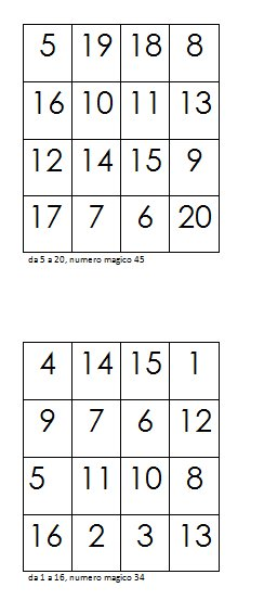 quadrati magici 20