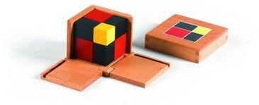 Il cubo del binomio Montessori 3