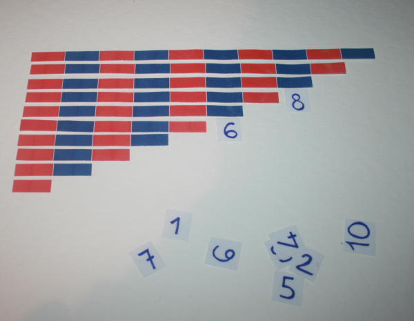 Aste numeriche Montessori