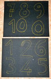 numeri tattili montessoriani - come costruirli 1
