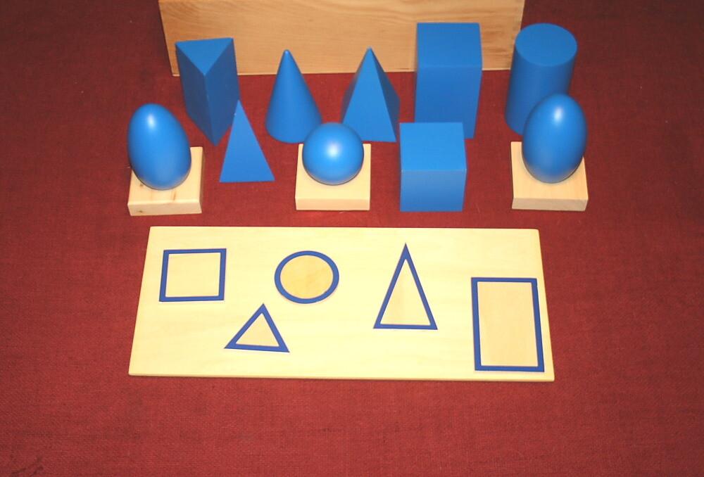 Cesto dei solidi geometrici Montessori