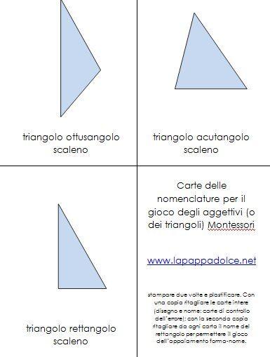 il gioco dei triangoli (indovina l'aggettivo) Montessori 4