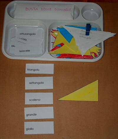 il gioco dei triangoli (indovina l'aggettivo) Montessori 6