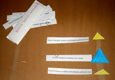 il gioco dei triangoli (indovina l'aggettivo) Montessori 7