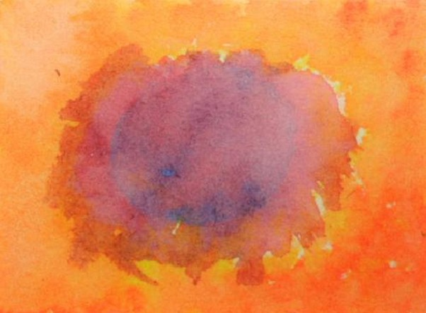 watercolor painting in the Waldorf School – exercise 21