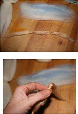 Angelo colorato in lana cardata 9