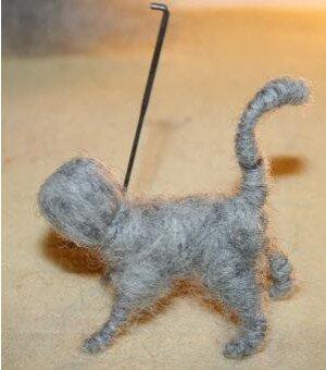 Animali di lana cardata - Gattino 7