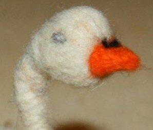 Animali di lana cardata - Oca e galletto 7