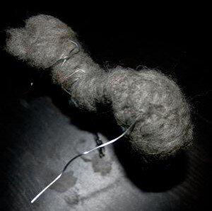 Asinello di lana cardata bue e cammello 10