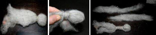 Asinello di lana cardata bue e cammello 5