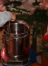 Candele di cera d'api - tecnica ad immersione - Santa Lucia 11