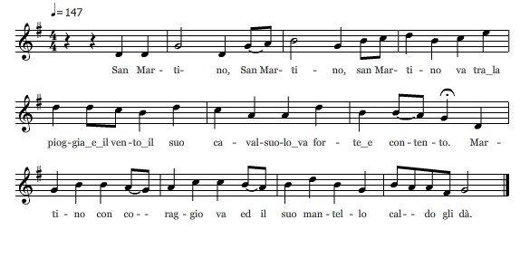 Canti per san Martino - San Martino va 1