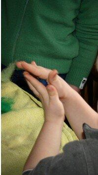 Geodi di feltro e palline di feltro coi bambini 5