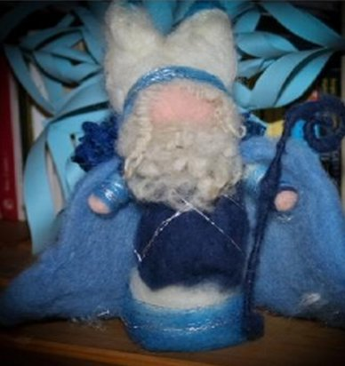 Tutorial: St. Nicholas in carded wool