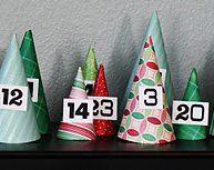 Natale Calendari dell'Avvento fai da te - 70 e più idee - 13