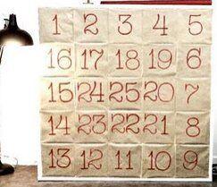 Natale Calendari dell'Avvento fai da te - 70 e più idee - 16