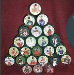 Natale Calendari dell'Avvento fai da te - 70 e più idee - 26