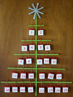 Natale Calendari dell'Avvento fai da te - 70 e più idee - 35