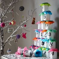 Natale Calendari dell'Avvento fai da te - 70 e più idee - 48