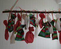 Natale Calendari dell'Avvento fai da te - 70 e più idee - 55