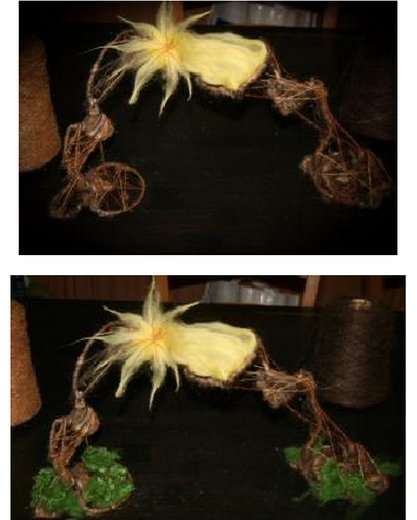 Presepe in lana cardata - capanna e stella cometa 11