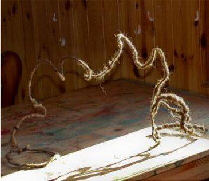 Presepe in lana cardata - capanna e stella cometa 5