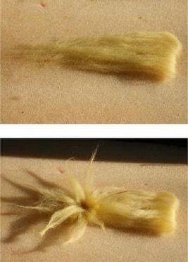 Presepe in lana cardata - capanna e stella cometa 9