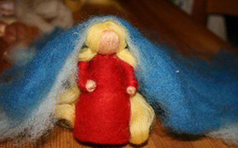 Presepe in lana cardata tutorial - Maria, Giuseppe, Gesù bambino, i pastori e i Re Magi 10