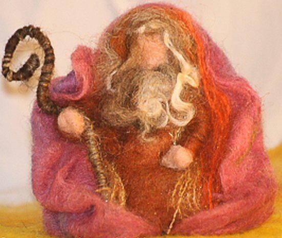 Presepe in lana cardata tutorial - Maria, Giuseppe, Gesù bambino, i pastori e i Re Magi 15