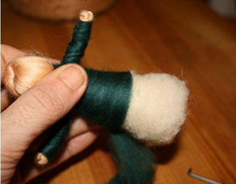Presepe in lana cardata tutorial - Maria, Giuseppe, Gesù bambino, i pastori e i Re Magi 16