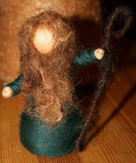 Presepe in lana cardata tutorial - Maria, Giuseppe, Gesù bambino, i pastori e i Re Magi 19